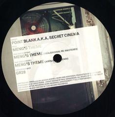 Point Blank Aka Secret Cinema - Meng's Theme / Green GR28