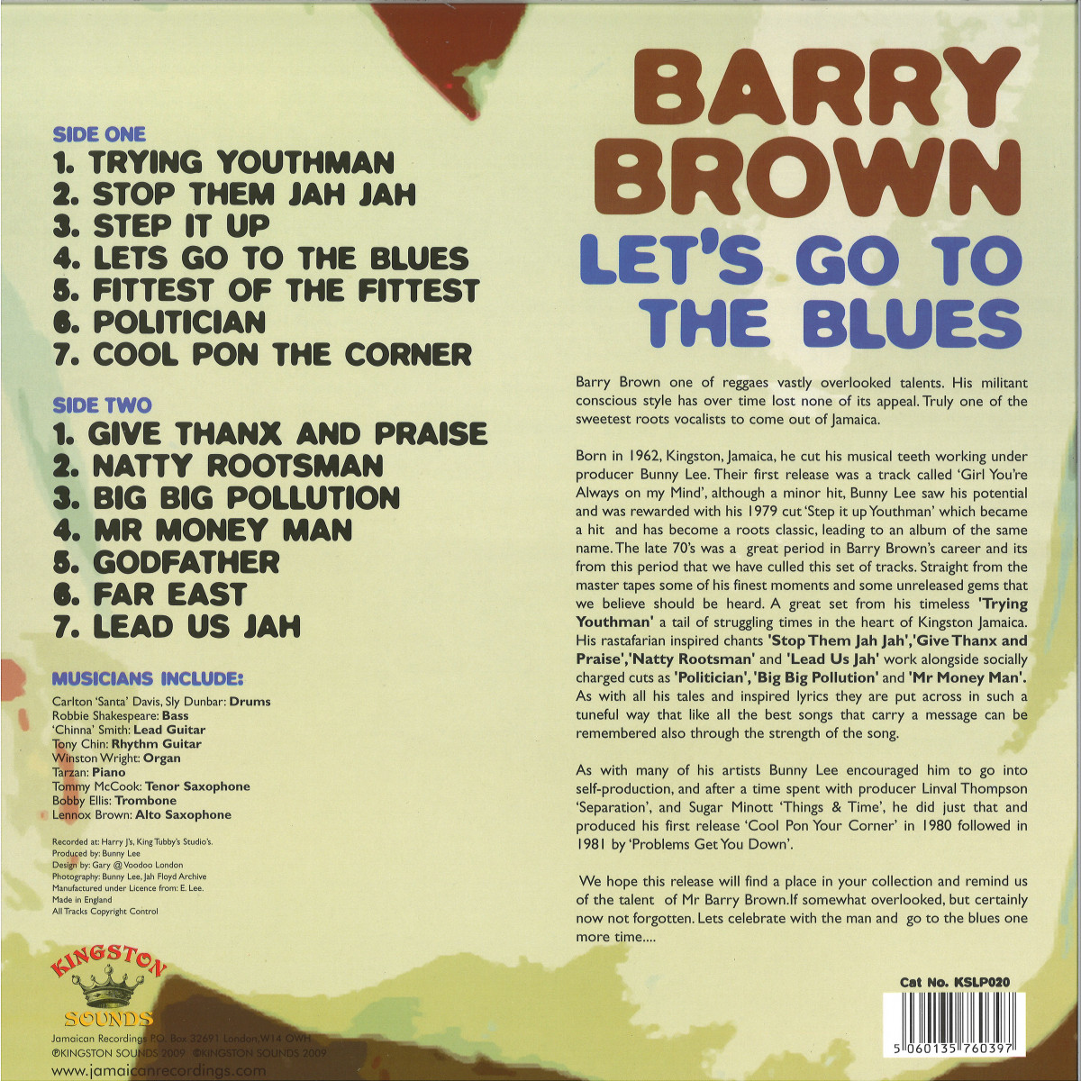 Barry Brown - Let's Go To The Blues / Kingston Sounds