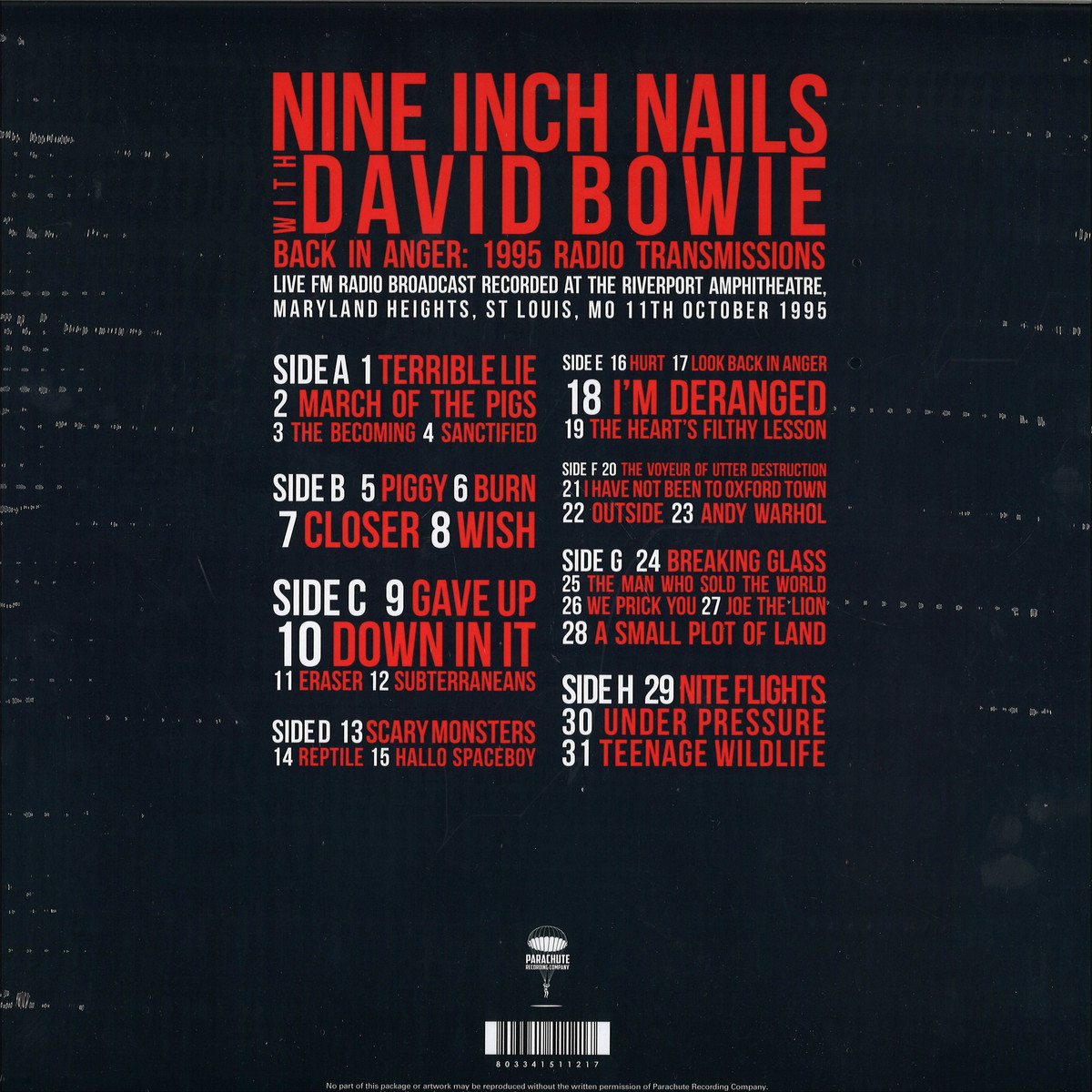 Nine Inch Nails With David Bowie - Back In Anger - The 1995 Radio ...