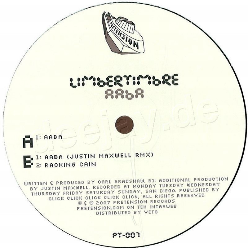 Limbertimbre - Aaba / Pretension Records PT007 - Vinyl