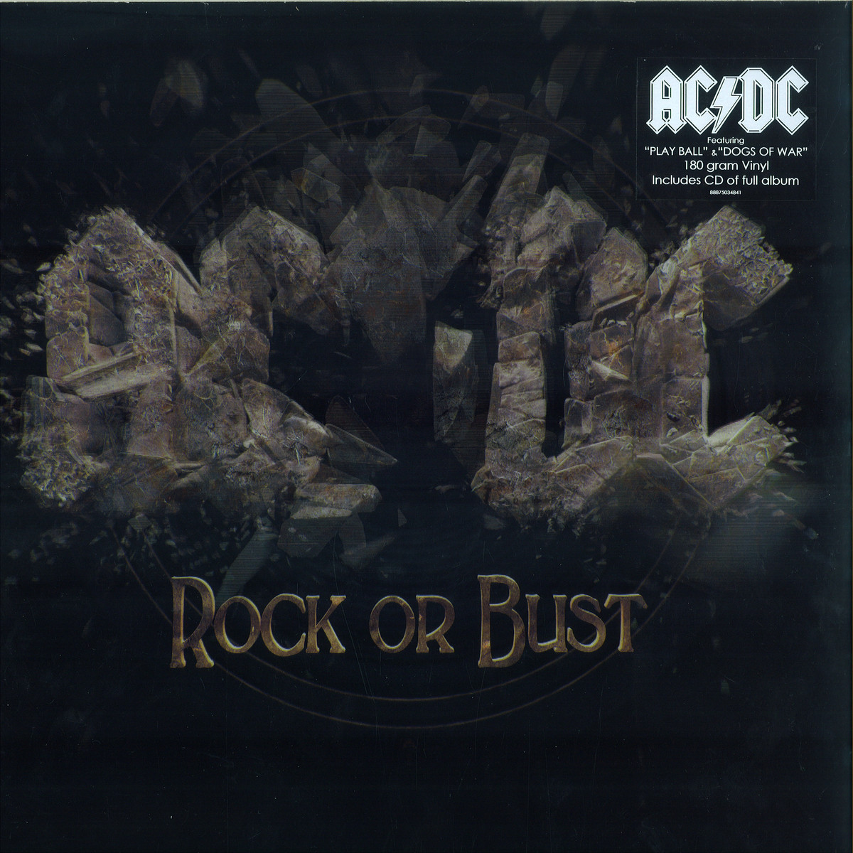 ac dc rock or bust columbia 88875034841 vinyl. Black Bedroom Furniture Sets. Home Design Ideas