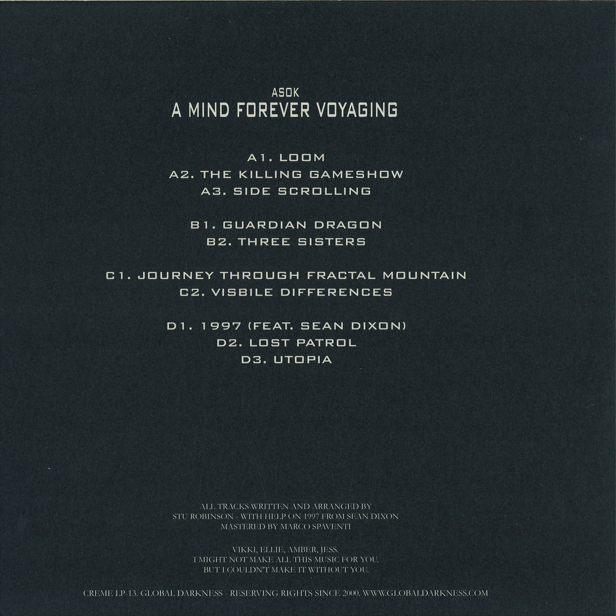 Asok - A Mind Forever Voyaging / Creme Organization CRLP13