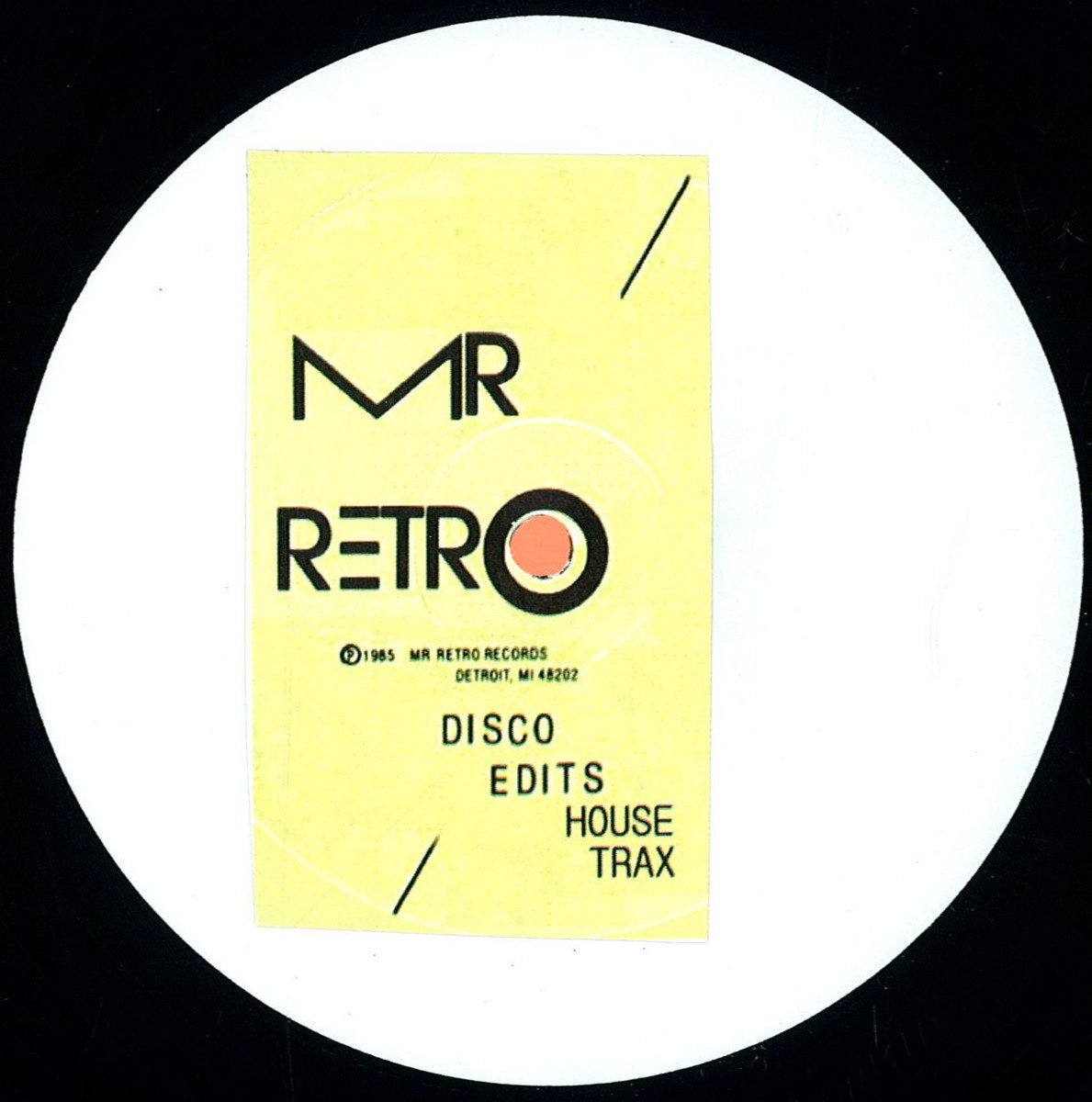 Mr Retro Disco Edits House Trax Mr Retro Mrr1 Vinyl