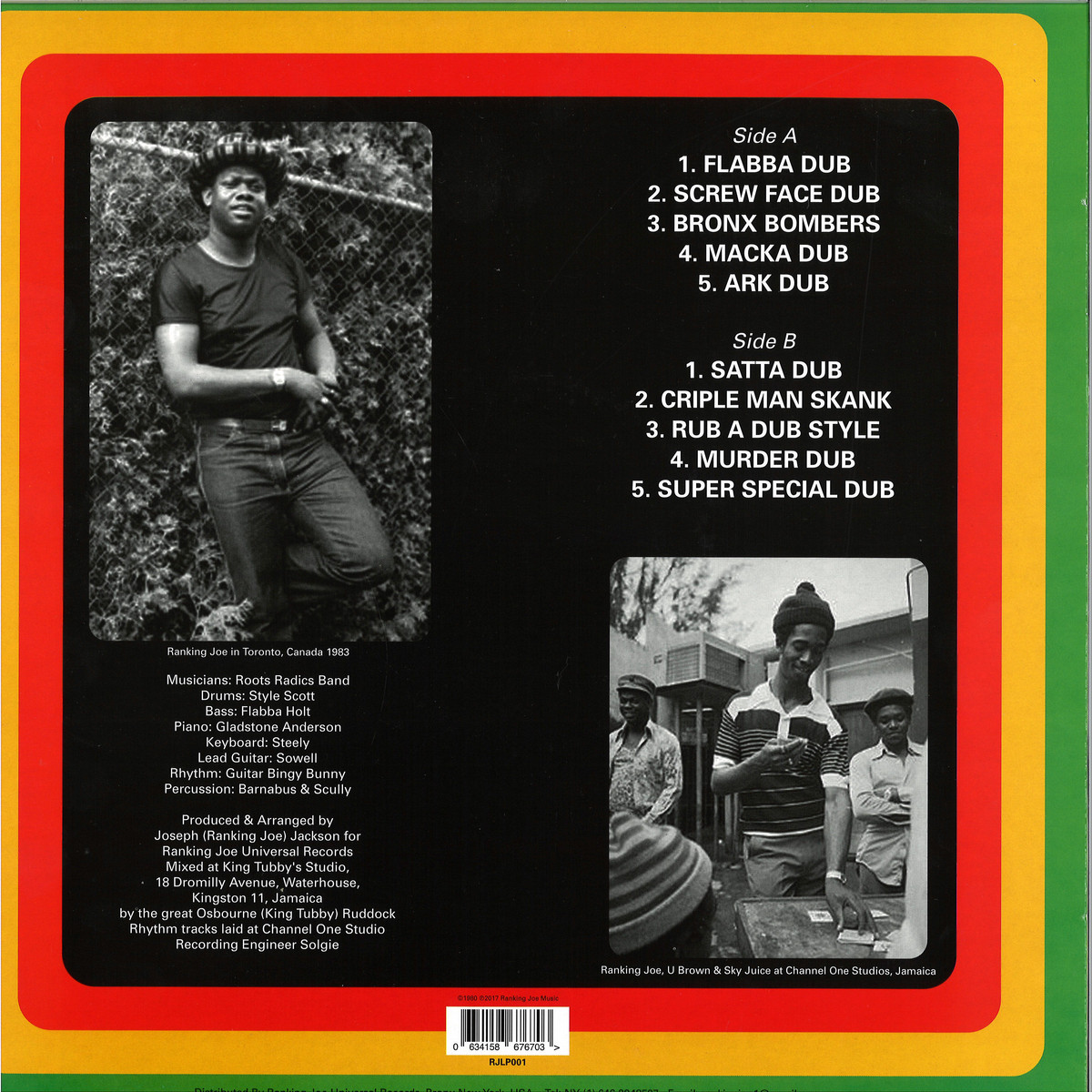 Errol Flabba Holt - Roots Radics Dub / Ranking Joe RJLP001 - Vinyl