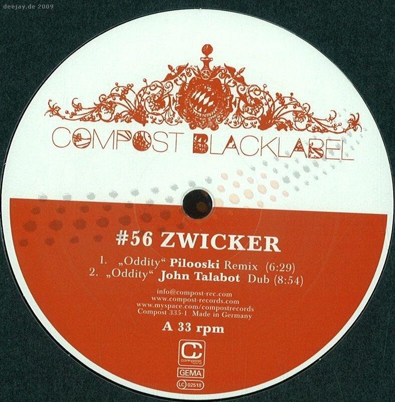 Zwicker - Black Label 56 / Compost Records COMP335-1 - Vinyl