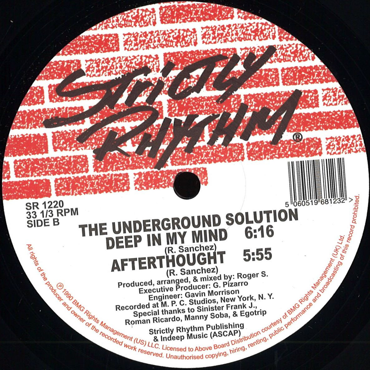 The Underground Solution Luv Dancin Strictly Rhythm