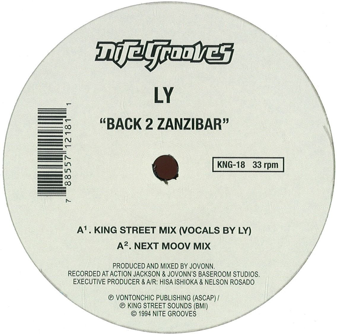 Ly jovonn back to zanzibar nite grooves kng18 vinyl for Zanzibar house music