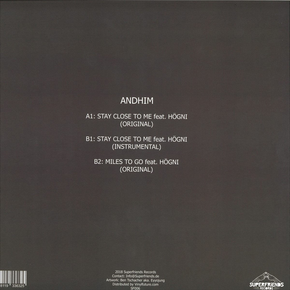 Andhim Feat. Högni - Stay Close To Me (Original Mix)