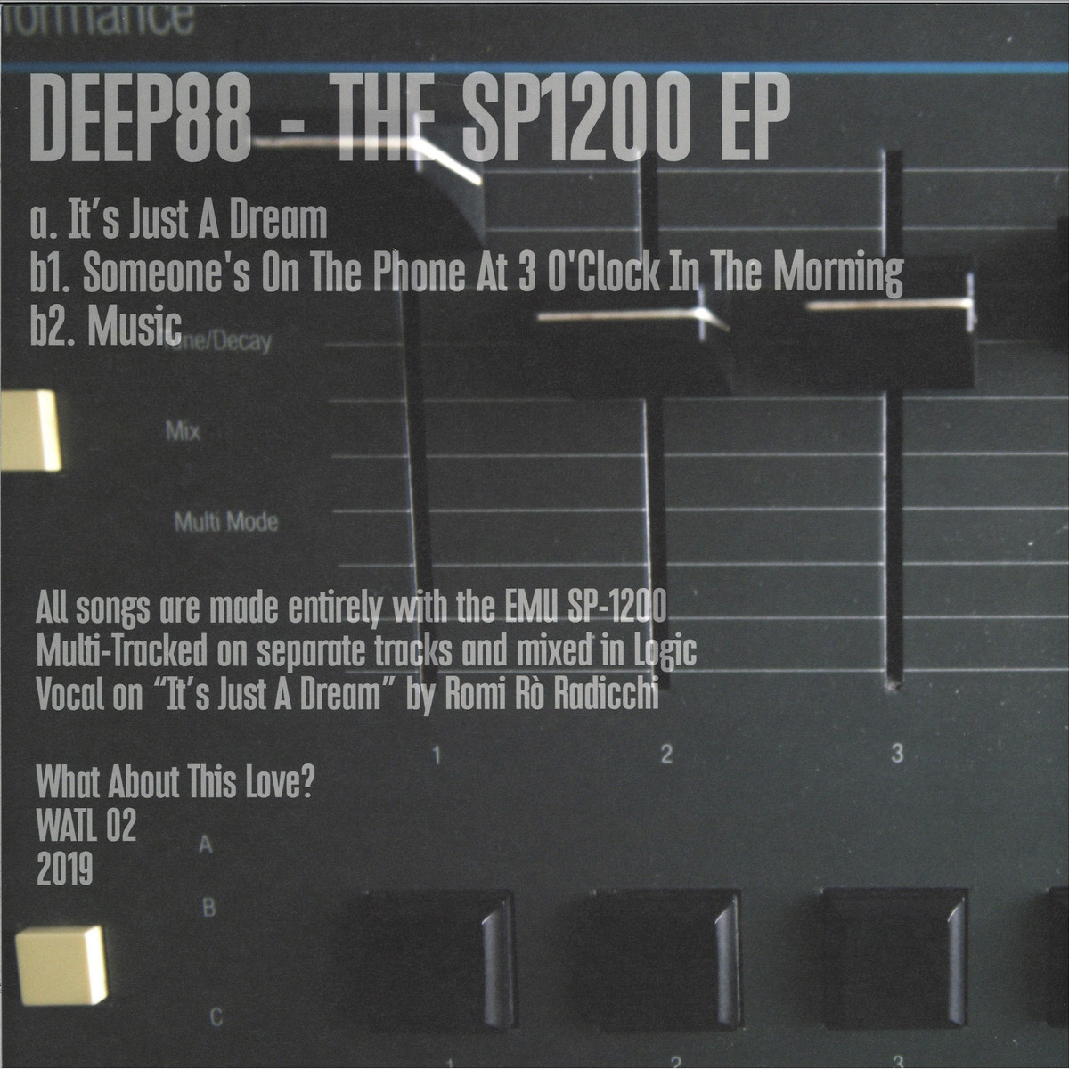 Deep88 - The SP1200 EP / What About This Love WATL02 - Vinyl