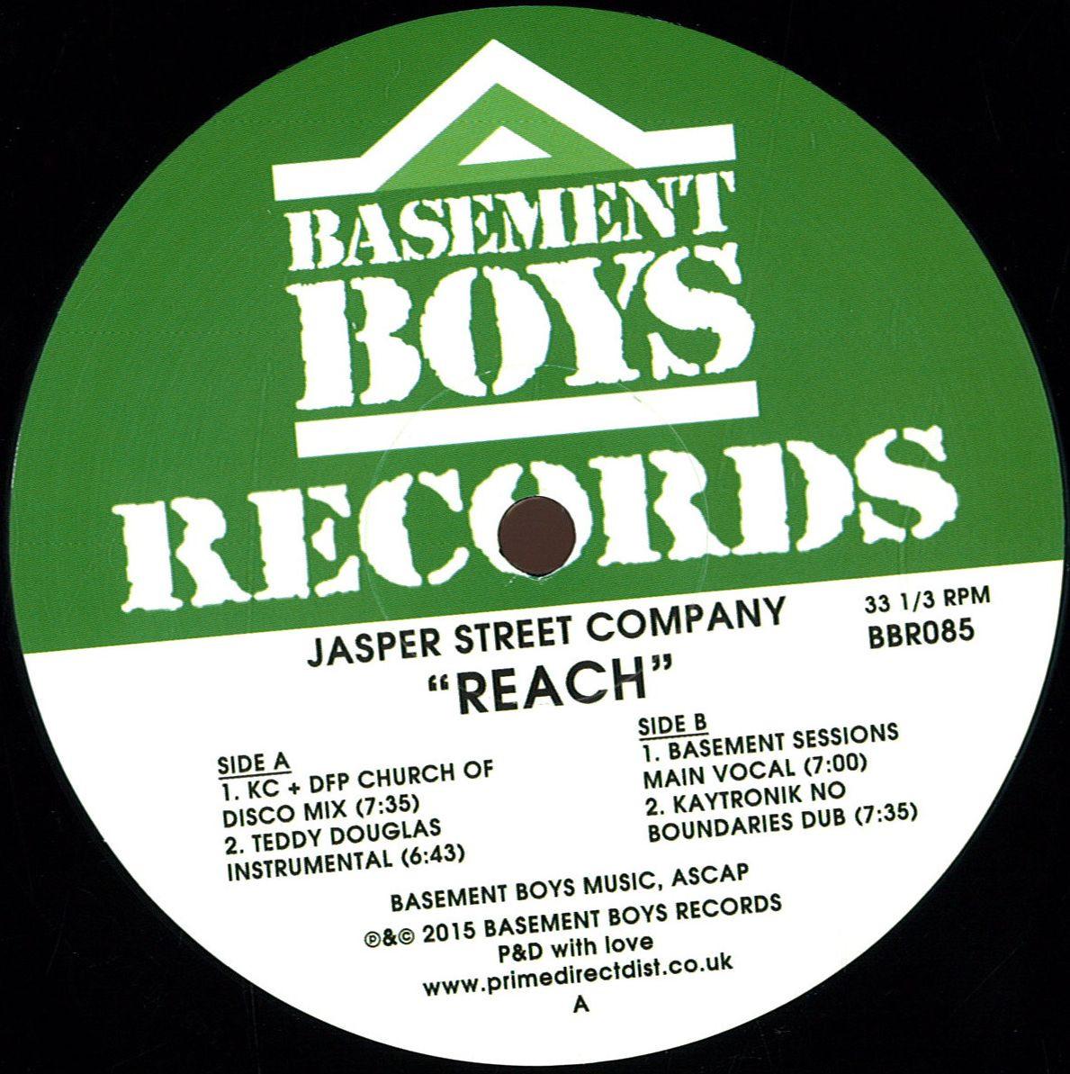jasper street company reach basement boys bbr085 vinyl