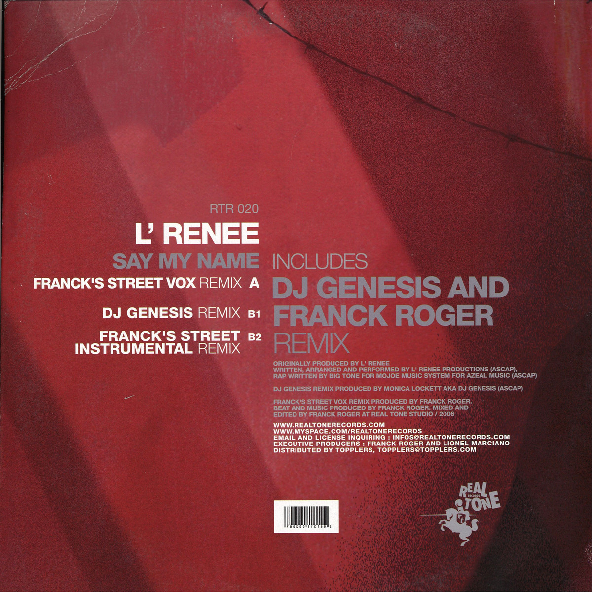 L Renee - Say My Name / Real Tone Records RTR020 - Vinyl