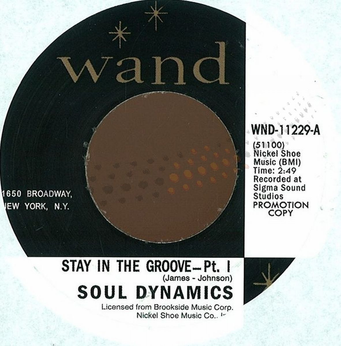 The Soul Dynamics - Stay In The Groove Pt I+ii / WAND