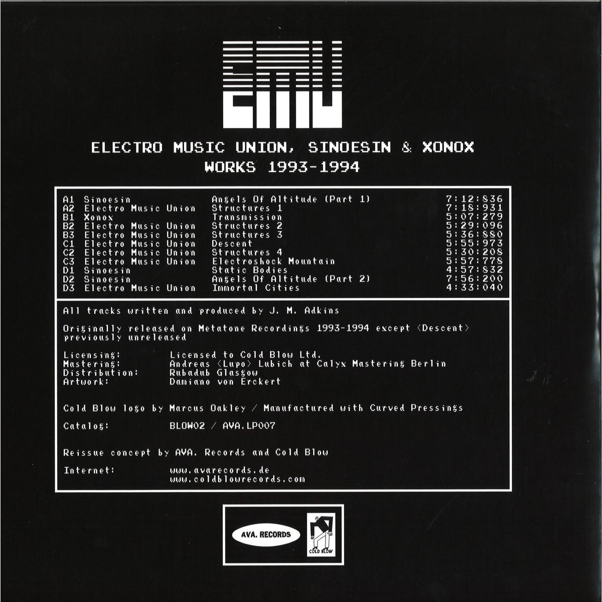 E M U  - Electro Music Union, Sinoesin & Xonox Works 1993 - 1994