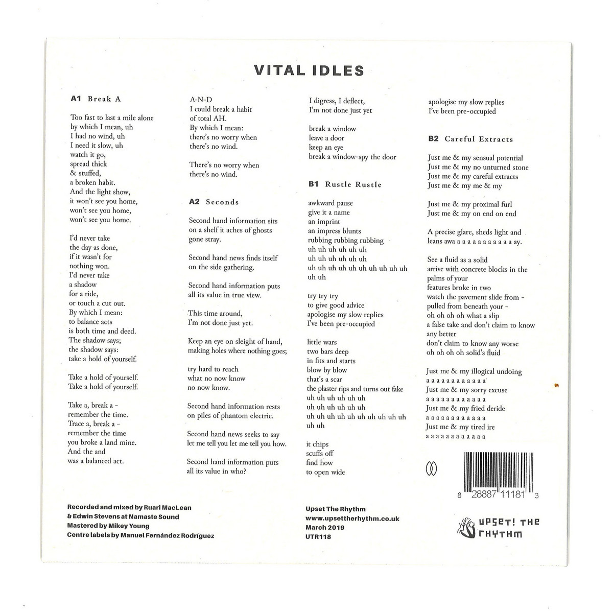 deejay de - Upset the Rhythm