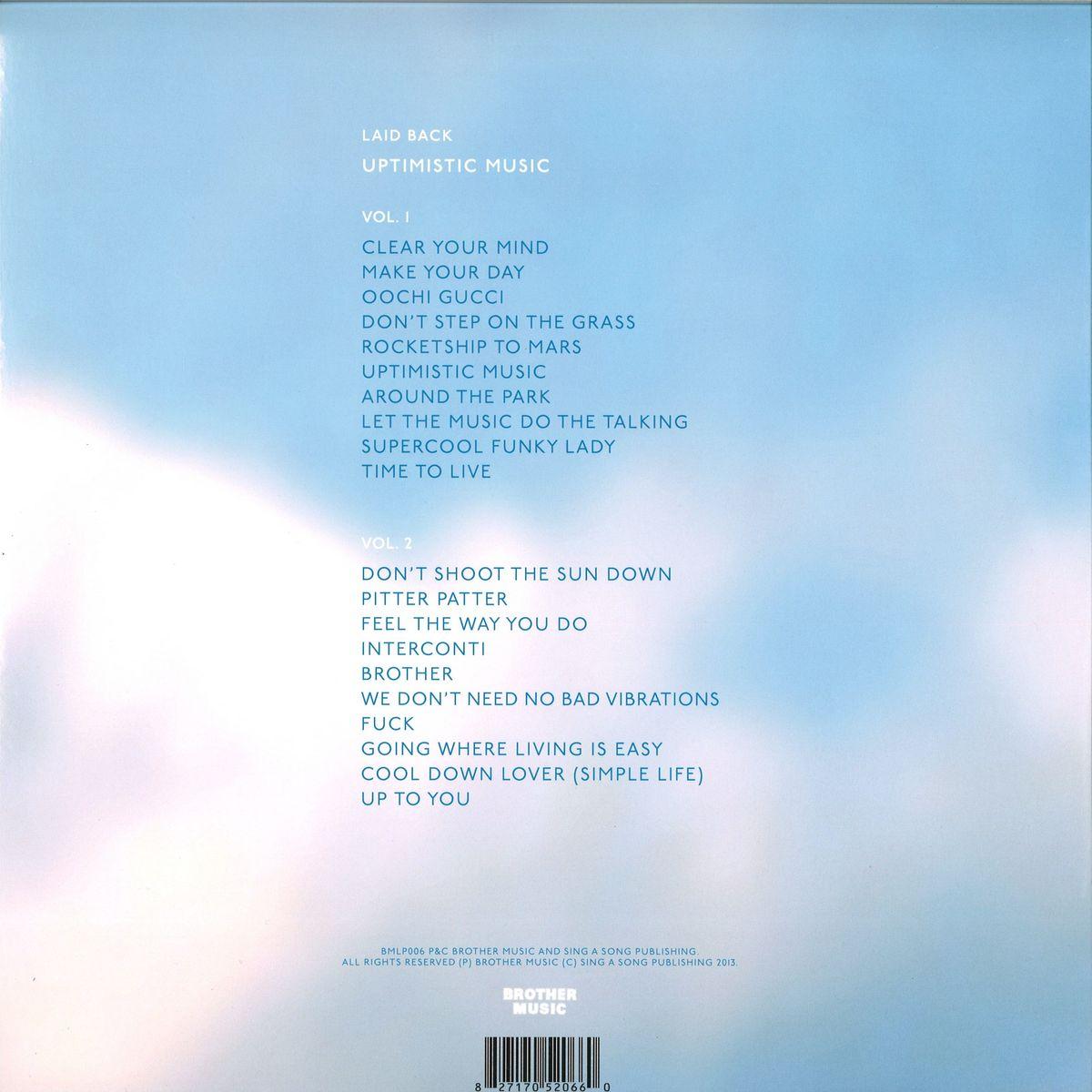 laid back - uptimistic music / brother music bmlp006 - vinyl