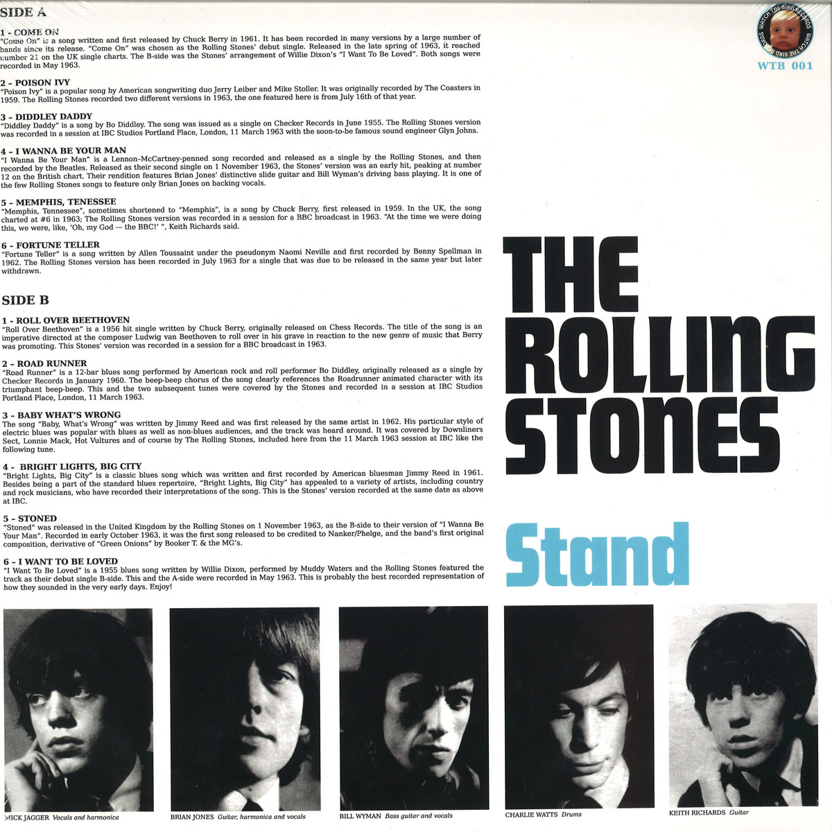 The Rolling Stones - Stand / AUDREY RECORDS WTB001 - Vinyl