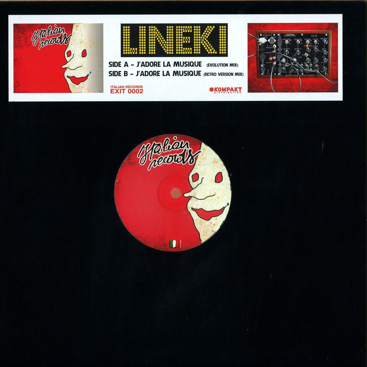 Lineki - J\'adore La Musique / Italien Records EXIT0002 - Vinyl