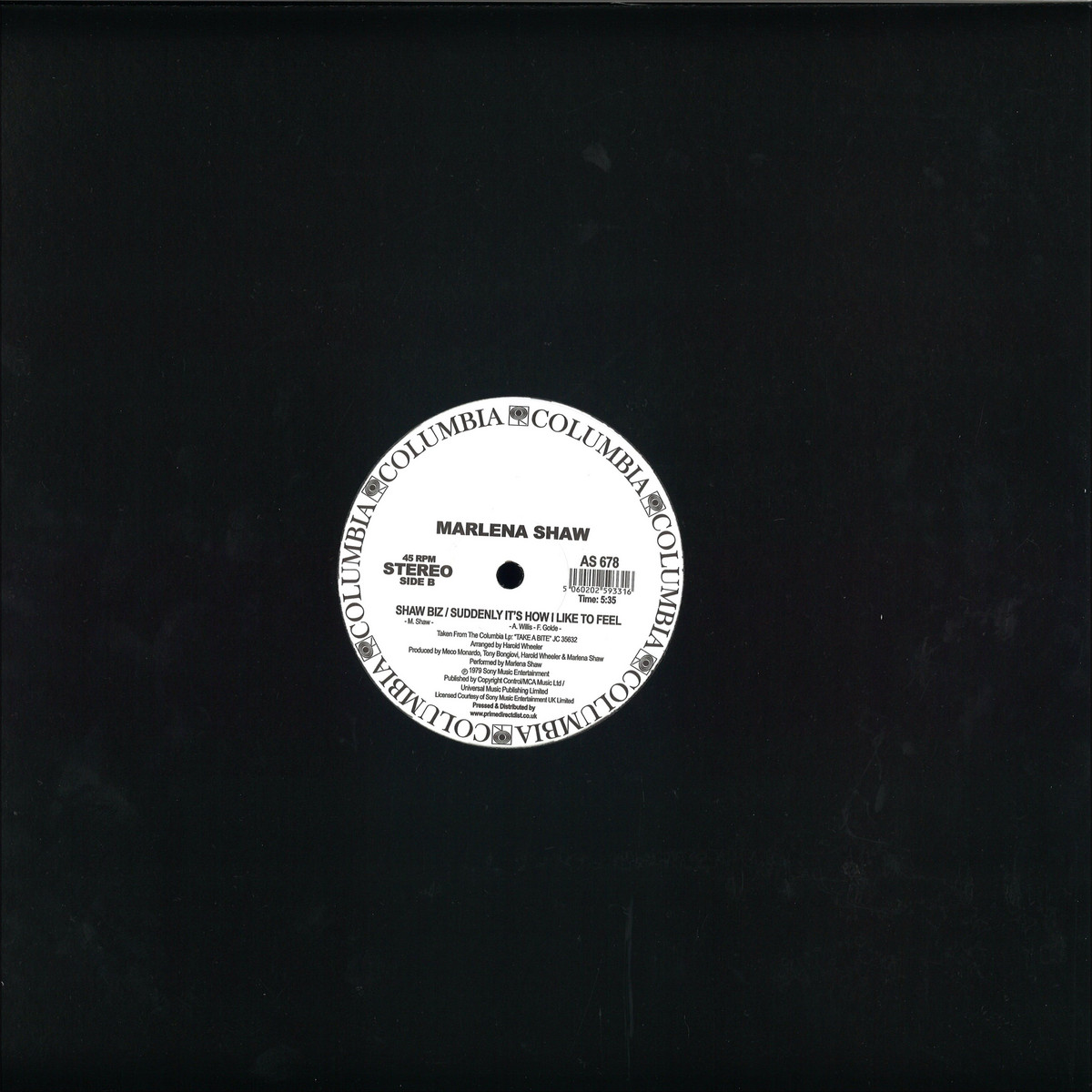 Marlena Shaw - Touch Me In The Morning / Columbia AS678P - Vinyl