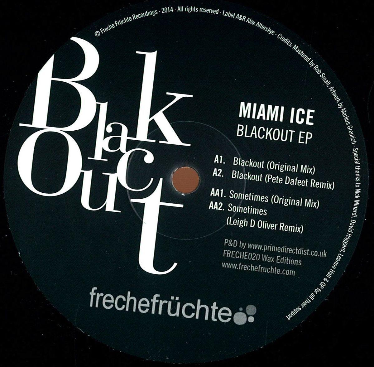miami ice blackout ep frech fr chte freche020 vinyl. Black Bedroom Furniture Sets. Home Design Ideas