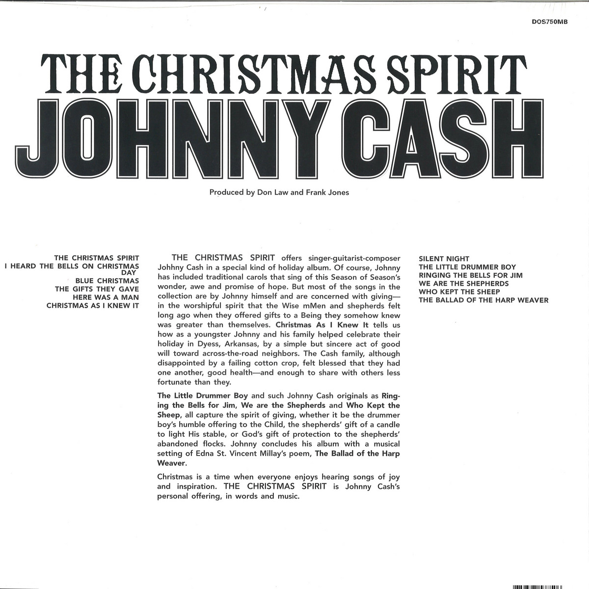 Johnny Cash I Heard The Bells On Christmas Day.Johnny Cash