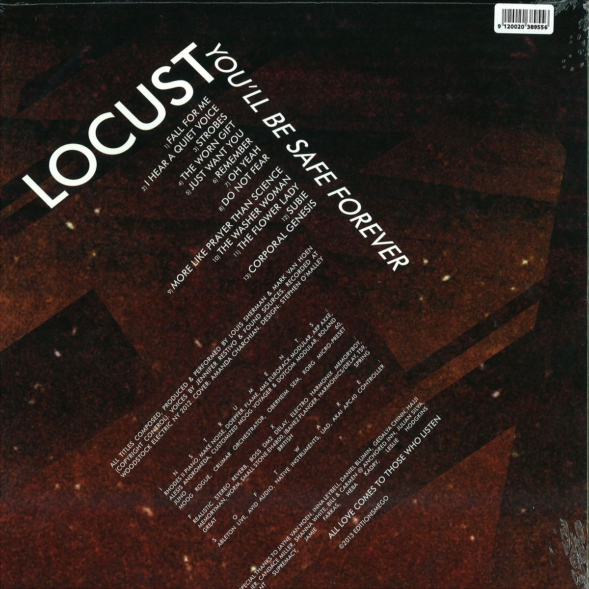 Locust - You'll Be Safe Forever / Editions Mego EMEGO162 - Vinyl