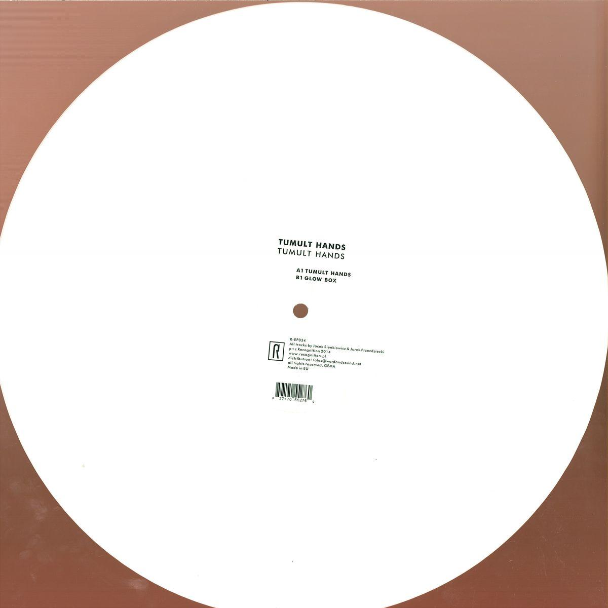 Tumult Hands Tumult Hands Ep Recognition R Ep034 Vinyl