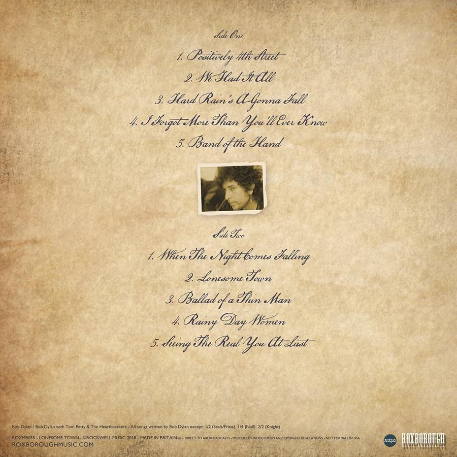 Bob Dylan - Lonesome Town / Roxborough Music ROXMB035-C - Vinyl