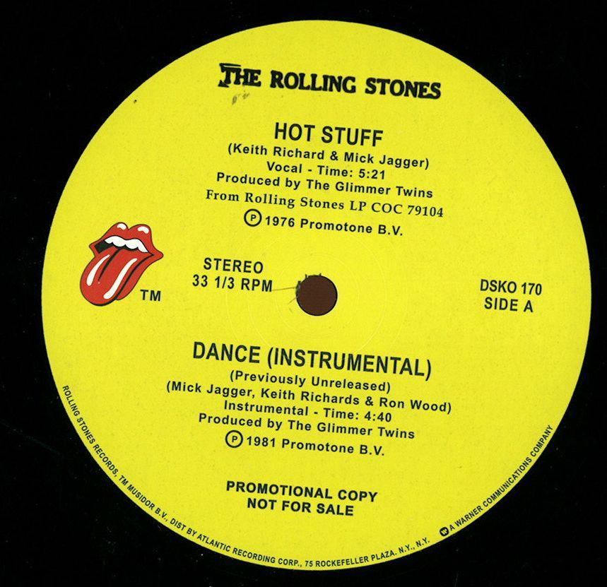 Hot stuff rolling stones for House music vinyl