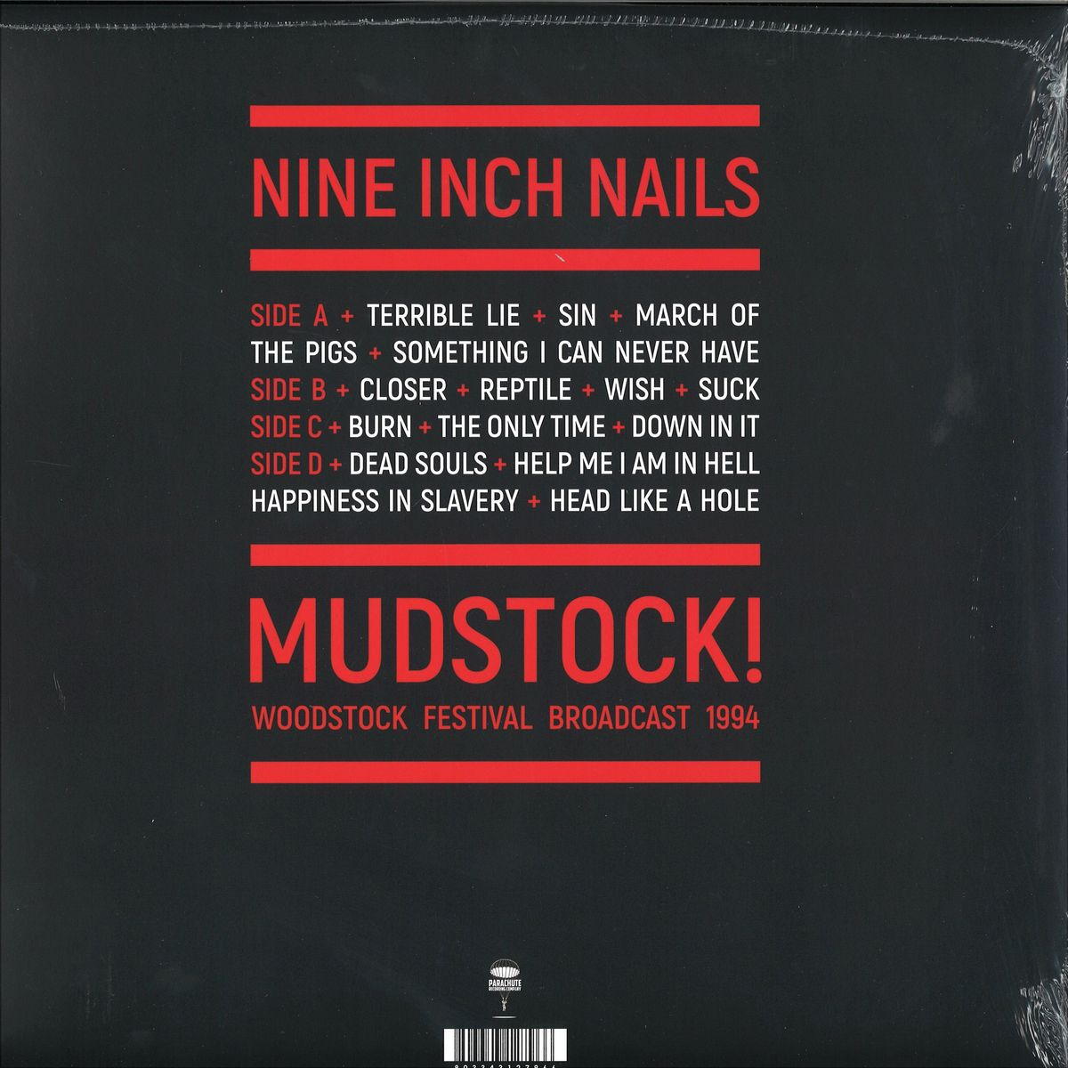 Nine Inch Nails - Mudstock! (woodstock 1994) / Parachute PARA124LP ...