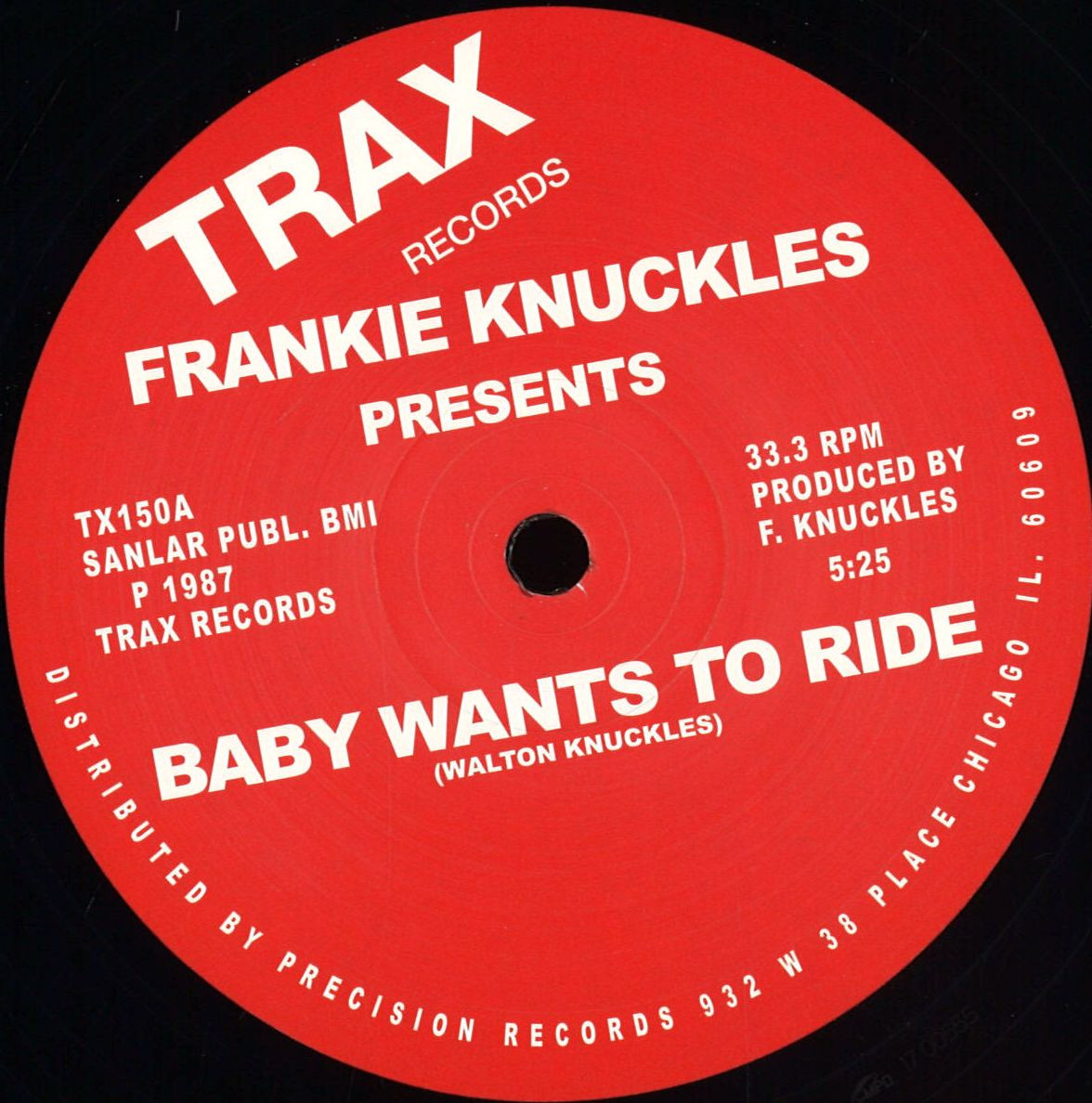 Frankie Knuckles Baby Wants To Ride Your Love Trax