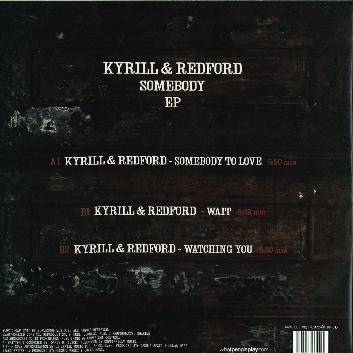 Kyrill & Redford - Somebody Ep / BURLESQUE BUR013 - Vinyl