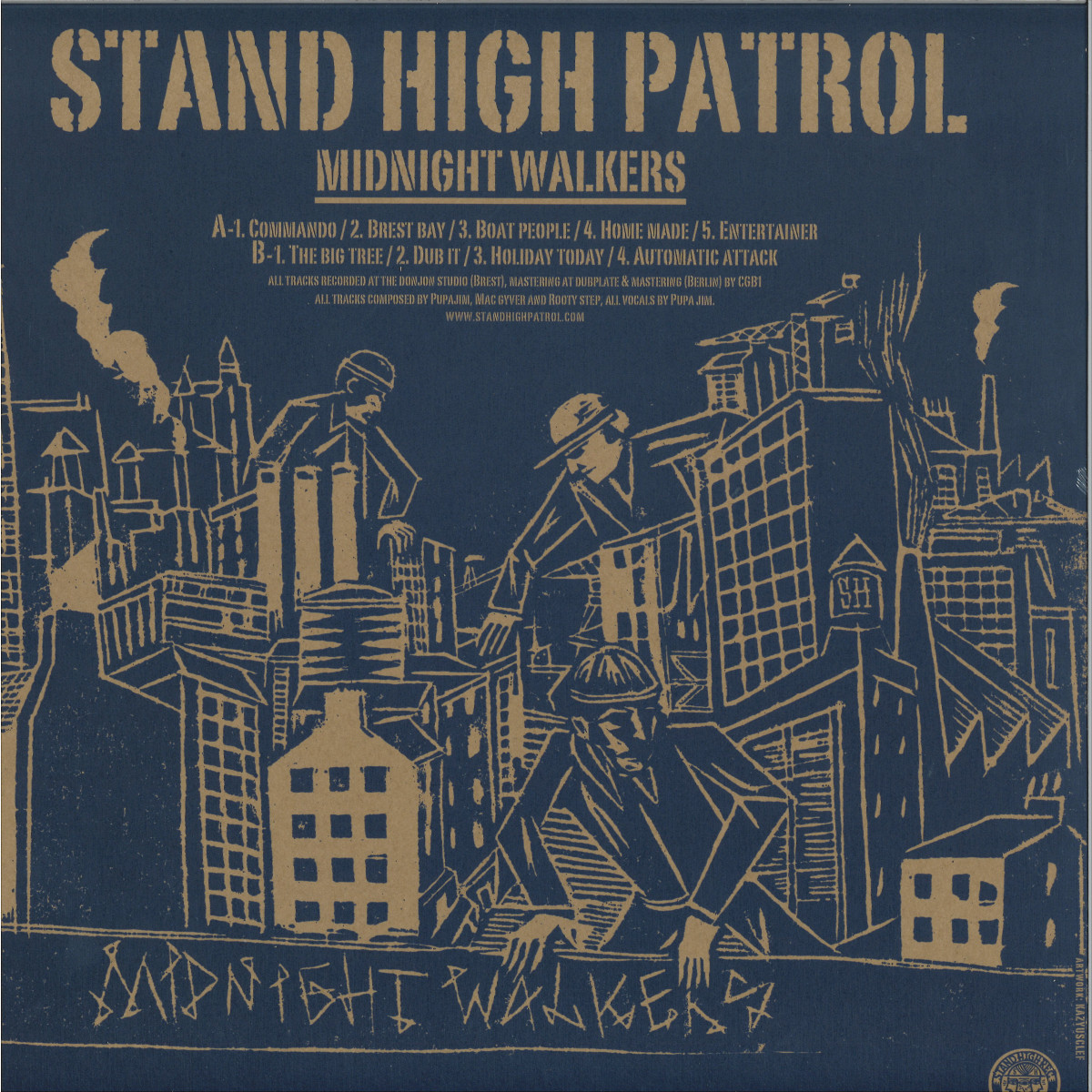 Stand High Patrol Midnight Walkers Stand High Records Shlp001 Vinyl