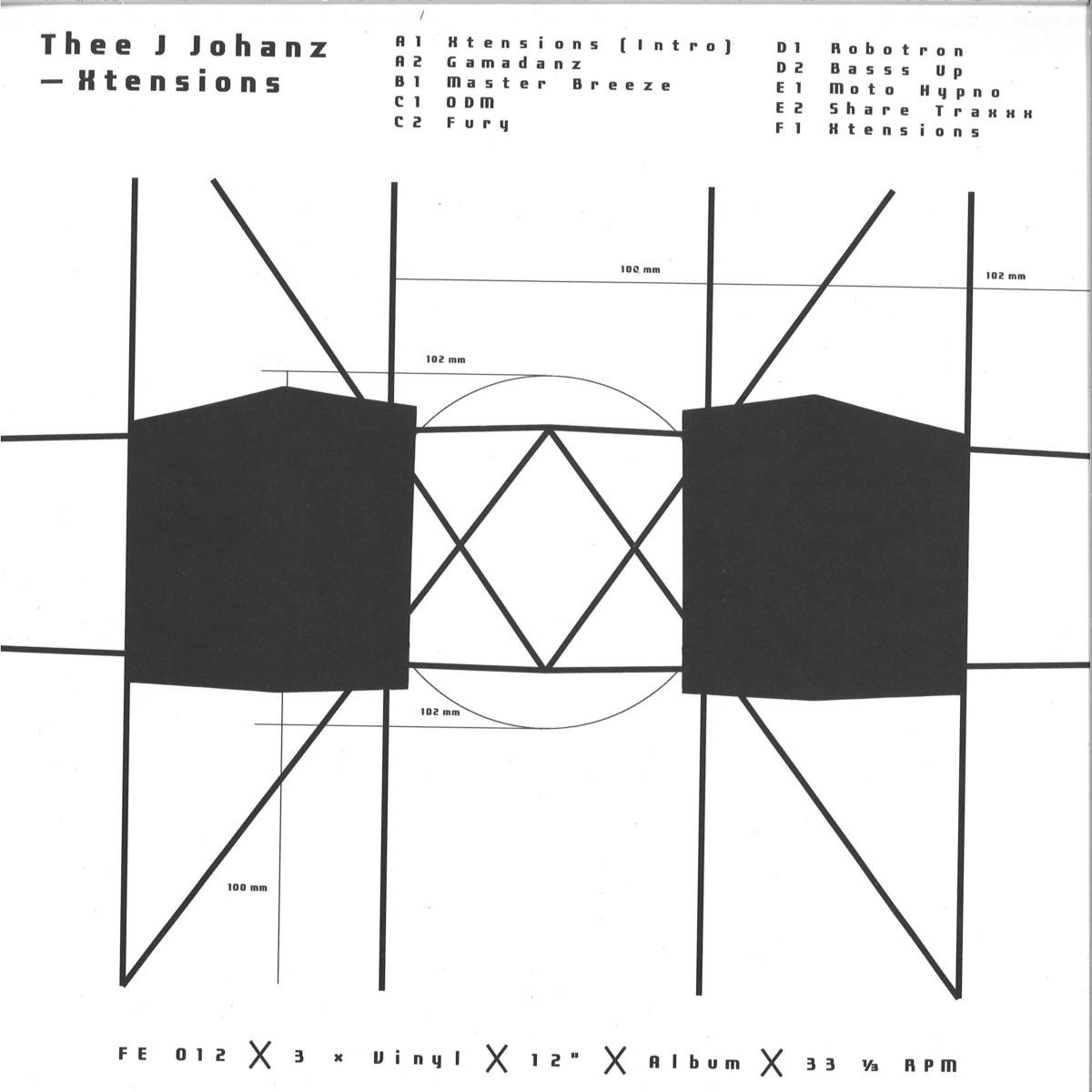 Thee J Johanz - Xtensions / Furthur Electronix FE012 - Vinyl
