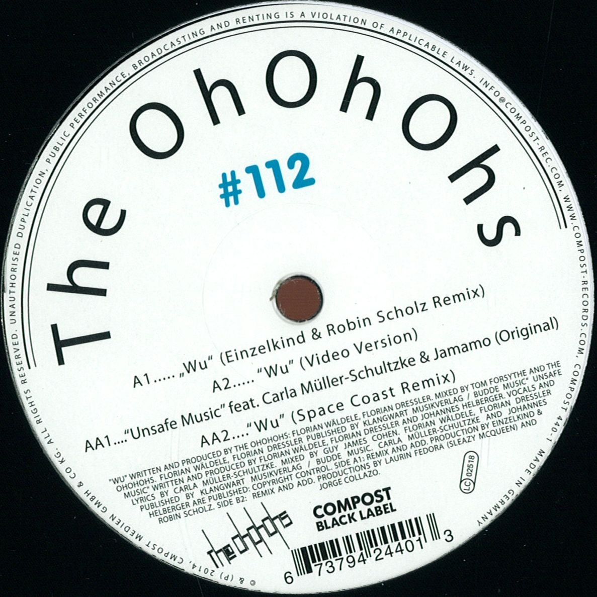 The Ohohohs - Compost Black Label 112 / Compost Records ...