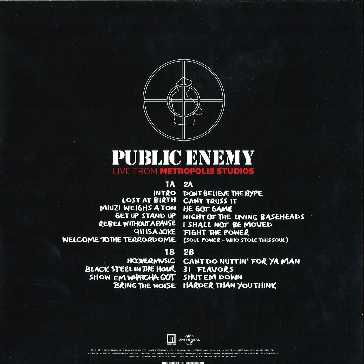 Public Enemy - Live From Metropolis Studios / Polydor 4722877 - Vinyl