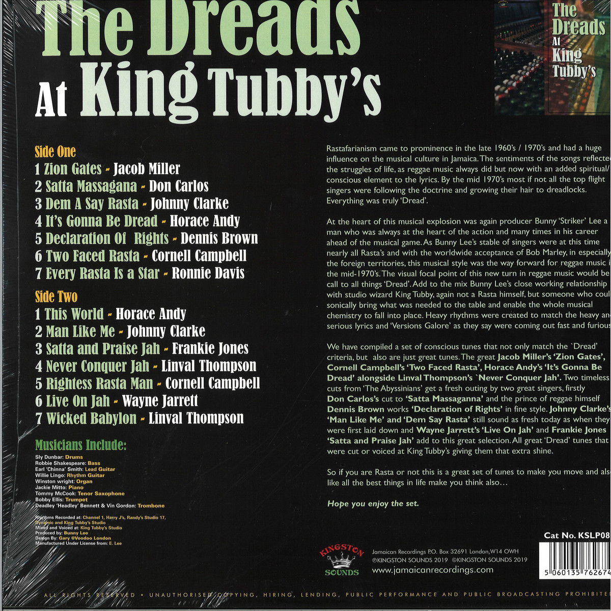 Various Artists - The Dreads At King Tubby's / Kingston Sounds