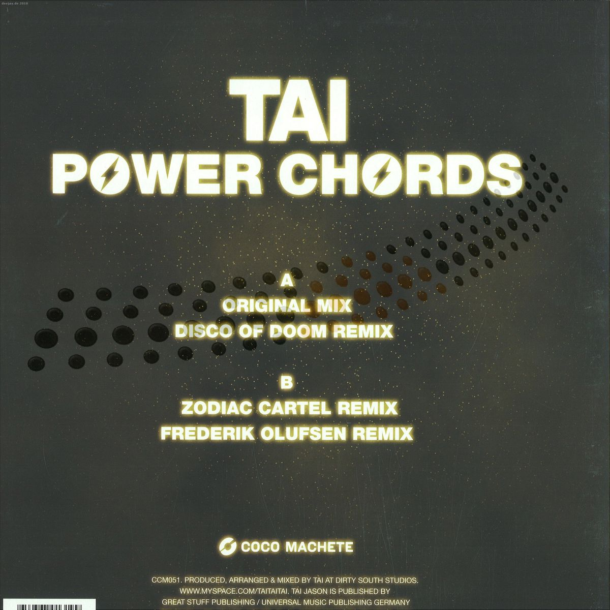 Tai - Power Chords Ep / Coco Machete CCM051 - Vinyl