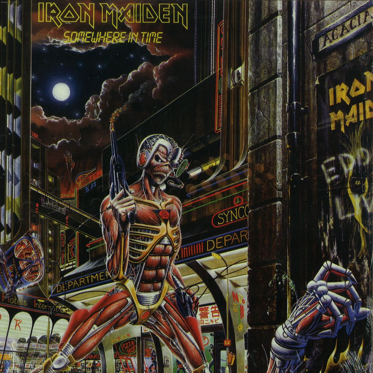 Iron Maiden Somewhere In Time Gt Germany 2564624854 Vinyl