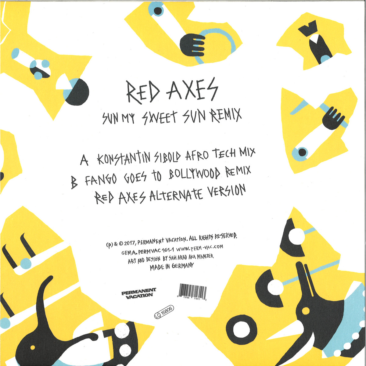 Red Axes - Sun My Sweet Sun Remix / Permanent Vacation