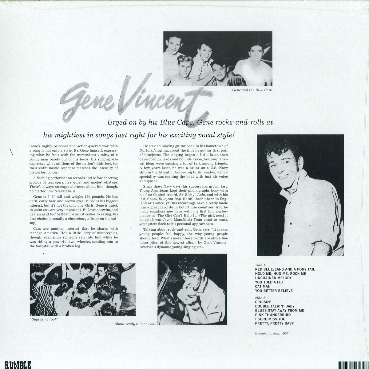 Gene Vincent And The Blue Caps - S/t / Rummenigge