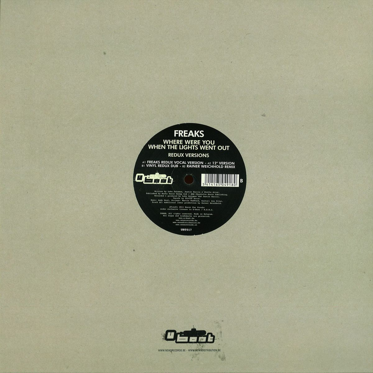 Freaks - Where Were You When The Lights Went Out - Redux Ve / U Boot